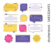 quote frames blank templates...   Shutterstock .eps vector #1681326451