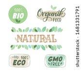 set of eco  bio  organic ... | Shutterstock .eps vector #1681331791