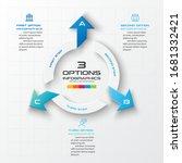 3 steps arrow infographic...
