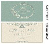 wedding invitation cards... | Shutterstock .eps vector #168134399