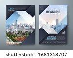 annual report brochure flyer... | Shutterstock .eps vector #1681358707