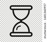 hourglass icon in flat style....   Shutterstock .eps vector #1681360957