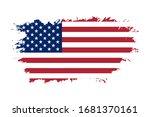 american flag. grunge old flag... | Shutterstock . vector #1681370161
