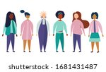 a lot of girls. a variety of...   Shutterstock .eps vector #1681431487