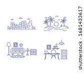outline environment background... | Shutterstock .eps vector #1681433617