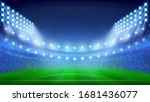 soccer stadium with glowing...   Shutterstock .eps vector #1681436077