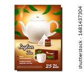 ceylon tea creative advertising ... | Shutterstock .eps vector #1681437304