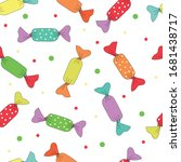 seamless vector pattern with... | Shutterstock .eps vector #1681438717