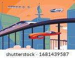 future transportation in...   Shutterstock .eps vector #1681439587