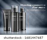 men cosmetics  shaving foam ... | Shutterstock .eps vector #1681447687