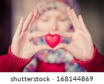 Heart Shape Love Symbol In...