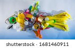 a plastic fish made of... | Shutterstock . vector #1681460911