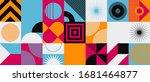 brutalism art inspired abstract ...   Shutterstock .eps vector #1681464877