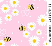 Daisy Seamless Pattern And...