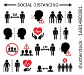 social distancing during... | Shutterstock .eps vector #1681480381