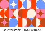 vintage retro bauhaus design... | Shutterstock .eps vector #1681488667