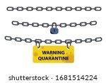 corona virus lock down symbol.... | Shutterstock .eps vector #1681514224