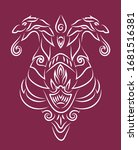 beautiful hand drawn insignia... | Shutterstock .eps vector #1681516381