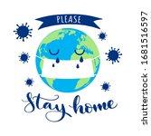 stop coronavirus  stay home ... | Shutterstock .eps vector #1681516597