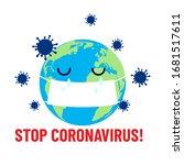 stop coronavirus  crying planet ... | Shutterstock .eps vector #1681517611