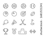 set of linear sport icons... | Shutterstock .eps vector #1681521241