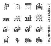 warehouse icon line vector... | Shutterstock .eps vector #1681528924