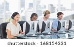group of business colleagues... | Shutterstock . vector #168154331