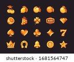 classic gold slot machine... | Shutterstock .eps vector #1681564747