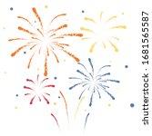 firework on white background ...   Shutterstock .eps vector #1681565587