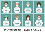 doctors  nurses and medical... | Shutterstock .eps vector #1681572121