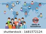 people around the world wearing ... | Shutterstock .eps vector #1681572124