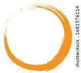 circle brush stroke vector... | Shutterstock .eps vector #1681576114