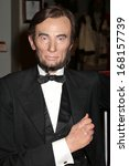 Small photo of NEW YORK - Dec 6: A wax figure of Abraham Lincoln is seen on display at Madame Tussauds on December 6, 2013 in New York City.