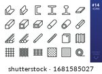 hot rolled steel outline icons... | Shutterstock .eps vector #1681585027