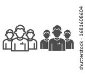 mens group line and solid icon. ... | Shutterstock .eps vector #1681608604