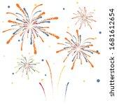 firework on white background ... | Shutterstock .eps vector #1681612654