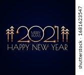 Happy New 2021 Year  Elegant...