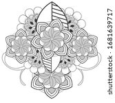 doodle flowers for coloring...   Shutterstock .eps vector #1681639717