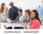 group of fashion designers... | Shutterstock . vector #168164264