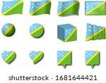 various designs of the solomon...   Shutterstock . vector #1681644421