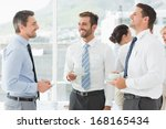 business colleagues in... | Shutterstock . vector #168165434