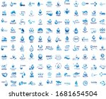 water splash vector and drop... | Shutterstock .eps vector #1681654504