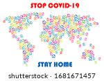 stop covid 19  stay home... | Shutterstock .eps vector #1681671457