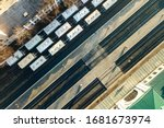 top down aerial view of many... | Shutterstock . vector #1681673974