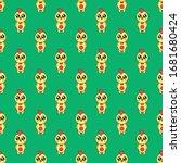 seamless pattern cute chick... | Shutterstock .eps vector #1681680424