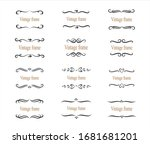 hand drawn set of decorative... | Shutterstock .eps vector #1681681201