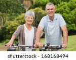 portrait of a senior couple on... | Shutterstock . vector #168168494