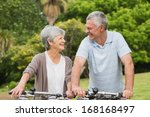 portrait of a senior couple on... | Shutterstock . vector #168168497