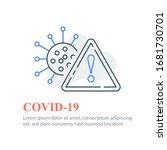 covid 19 or coronavirus  virus... | Shutterstock .eps vector #1681730701