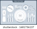 table setting. the plan for the ... | Shutterstock .eps vector #1681736137